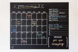 Chalkboard With Calendar (58x89cm)
