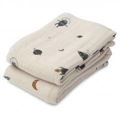 Lewis Muslin Cloth 2-Pack / Space Sandy Mix