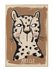 Wallposter Leopard Artist