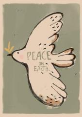 Wallposter Peacebird