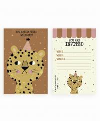 Leopard Kids Birthday Party Invitations
