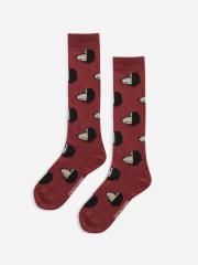 Maroon Doggie All Over Long Socks