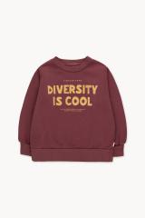 Diversity Is Cool Sweatshirt / Deep Plum Bamboo Yellow