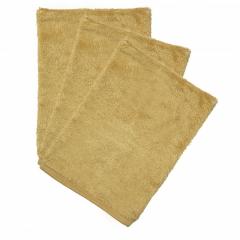 Set van 3 washandjes / Honey Yellow