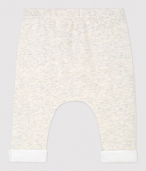 Gechineerde grijze broek