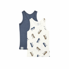 Duo Singlets / Twisted Tiger Blue