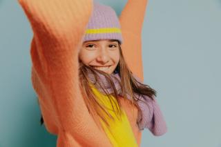 Hat Eloïse purple/ yellow mellow