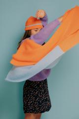 Scarf Yelena orange/ elsa blue