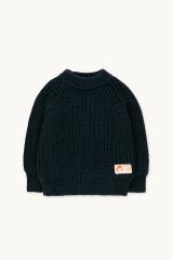 Solid Mockneck Sweater / Deep Blue
