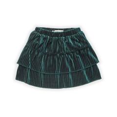 Skirt Velvet Pleats / Pine Green