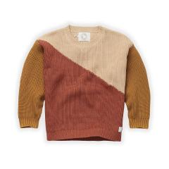 Sweater Colorblock / Nougat
