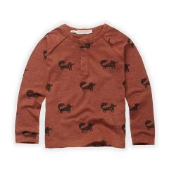 Granddad T-shirt Fox Print / Auburn