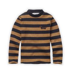 T-shirt Turtleneck Stripe