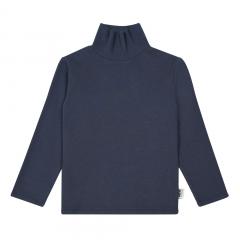 Organic Cotton Turtleneck / Midnight Blue