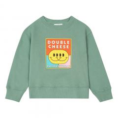 Organic Cotton Double Cheese Sweatshirt / Sage