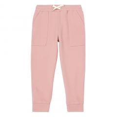 Wide Legged Organic Joggers / Dusty Pink