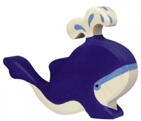 Blauwe Walvis Met Waterfontein