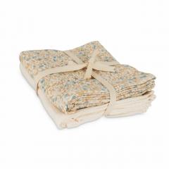 Muslin Cloth 2-Pack / Mini Flower Blue - Light Grey
