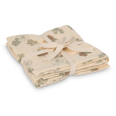 Muslin Cloth 2-Pack / Flowers And Berries