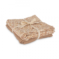 Muslin Cloth 2-Pack Mini Flower / Warm Beige