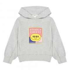 Organic Cotton Hooded Sweatshirt / Heather Grey