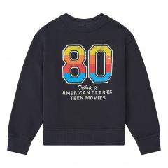 Organic Cotton Teen Movie Sweatshirt / Black
