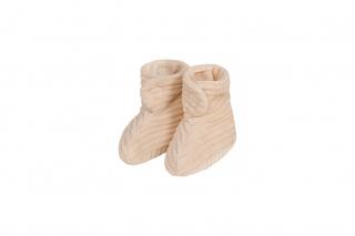 Shoes Newborn Rib Velvet / Naturel