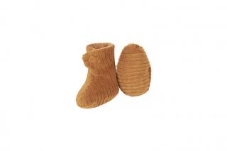 Shoes Newborn Rib Velvet / Caramel