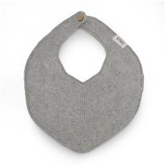 Knitted Bib Fjola / Grey Mélange