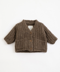 Knitted Cardigan / Coffee