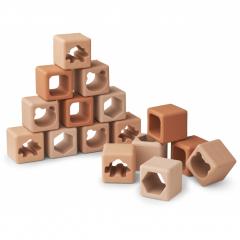 Loren Building Blocks 16-Pack / Tuscany Rose Multi Mix