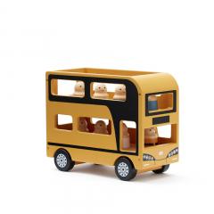 Aiden Double Decker Bus Toy / Yellow