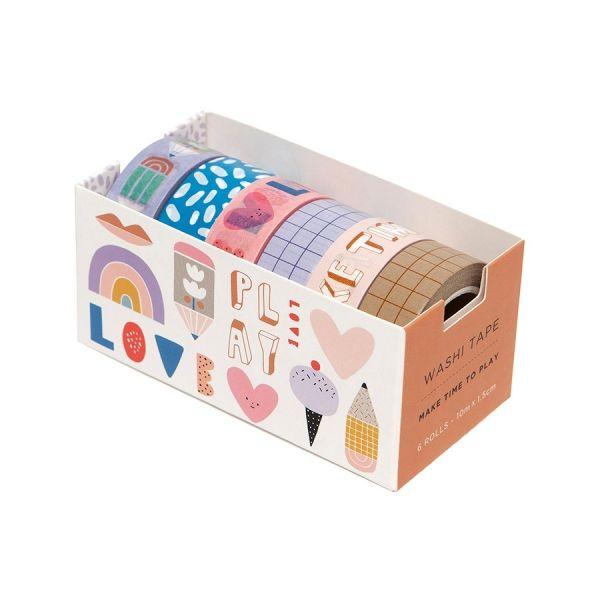 6 Washi Tapes / Make time To Play