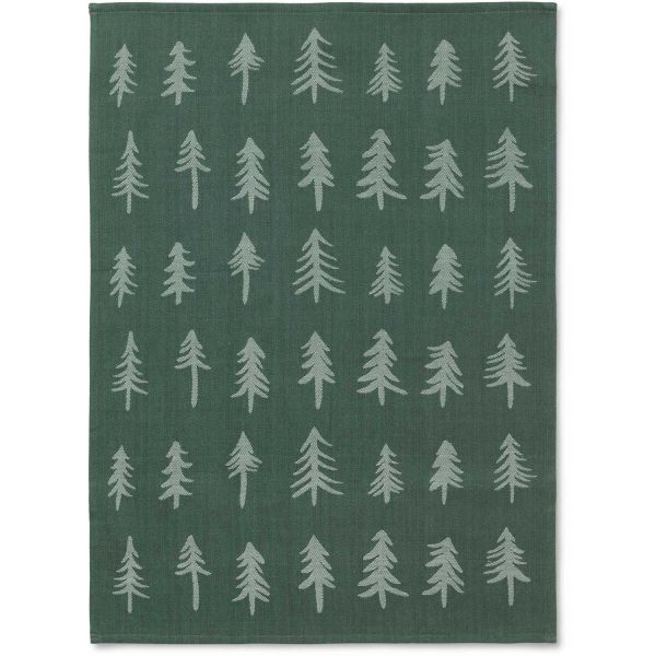 Christmas Tea Towel / Dark Green