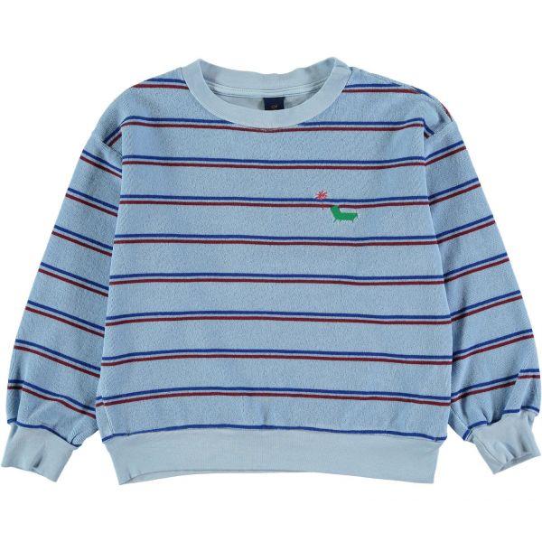 Sweatshirt Terry Bistripe / Light Blue