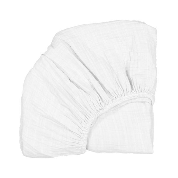 Fitted Sheet for Kumi Crib / White