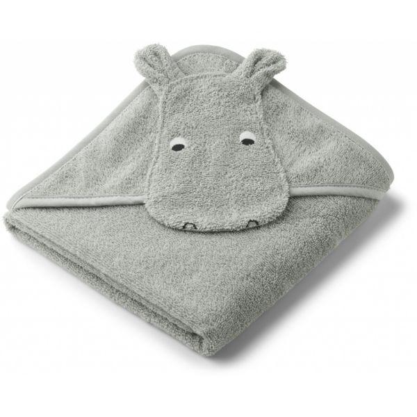 Albert Hooded Towel / Hippo Dove Blue