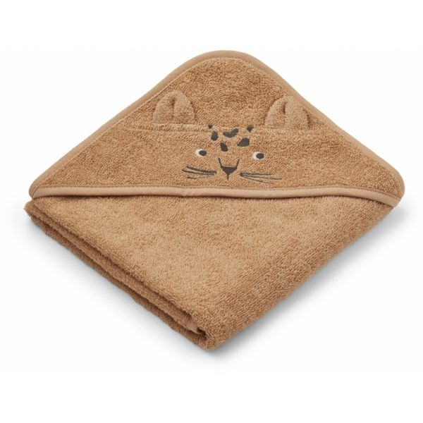 Albert Hooded Towel / Leopard Apricot