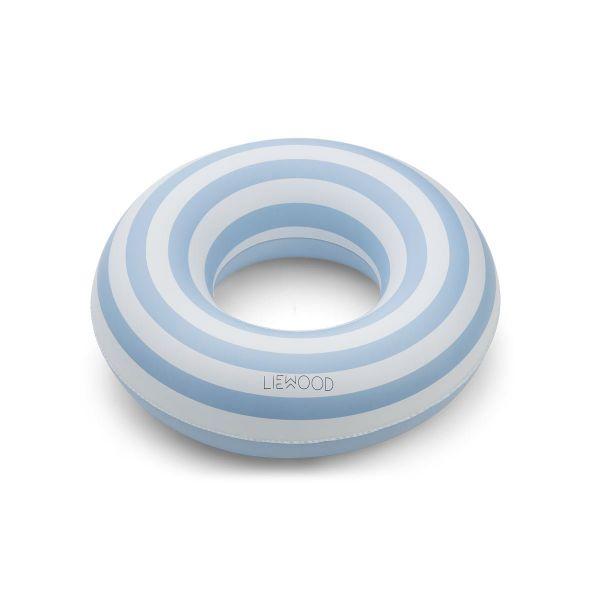 Baloo Swim Ring / Stripe Sea Blue - Creme de la Creme