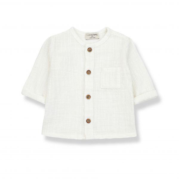Mauri Long Sleeve Shirt / off-white