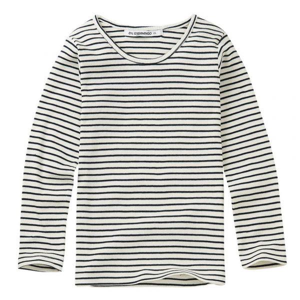 Rib Top Stripes / White - Black