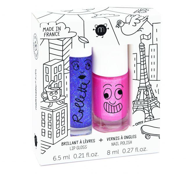Nagellak op waterbasis & Lip gloss / Lovely City