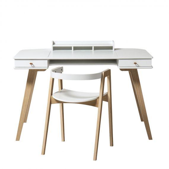 Wood desk 72,6 cm + Wood armchair