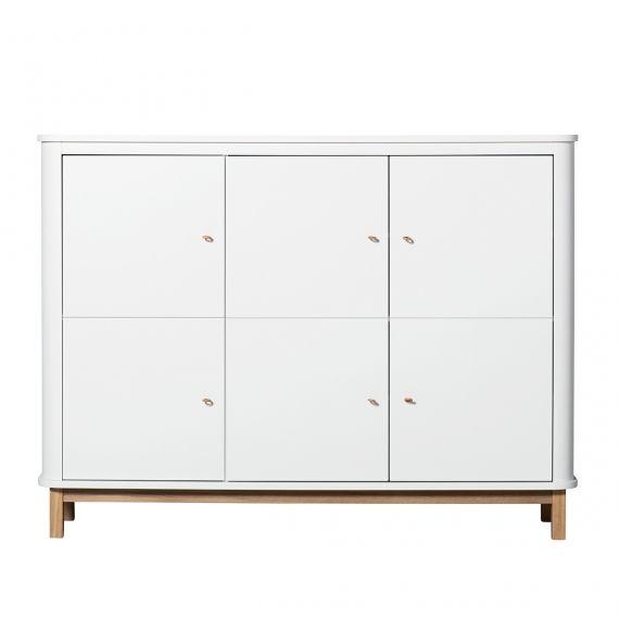 Wood Multi cupboard 3 doors / Oak