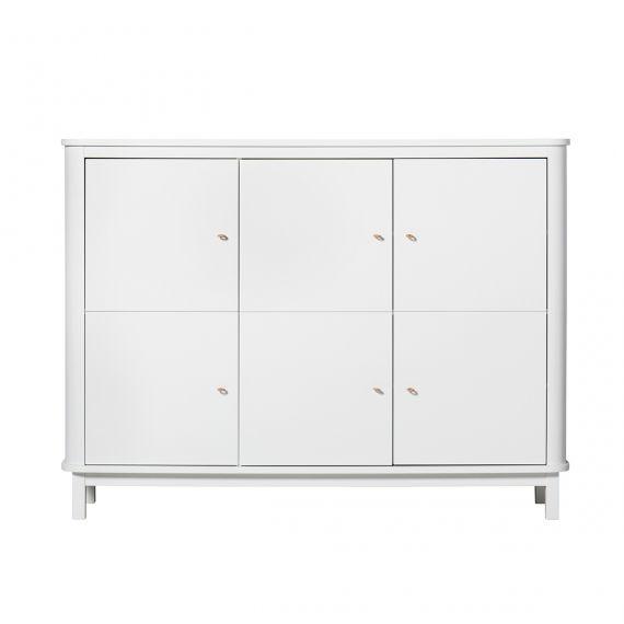 Wood Multi cupboard 3 doors / White