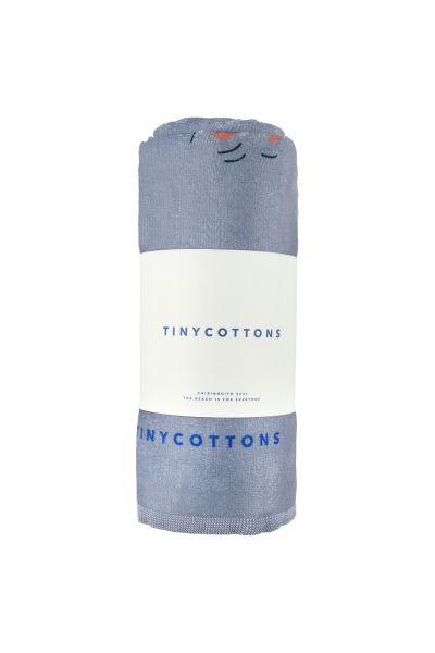 Doggy Paddle Towel / Summer Grey - Iris Blue