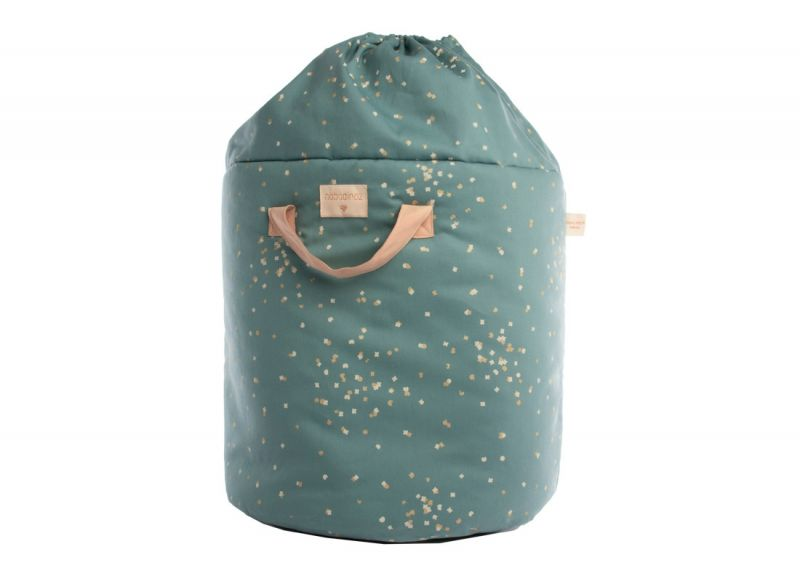 Bamboo Toy Bag Large / Gold Confetti Magic Green