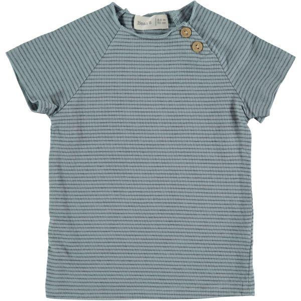 Clover Striped T-shirt / Sky Blue
