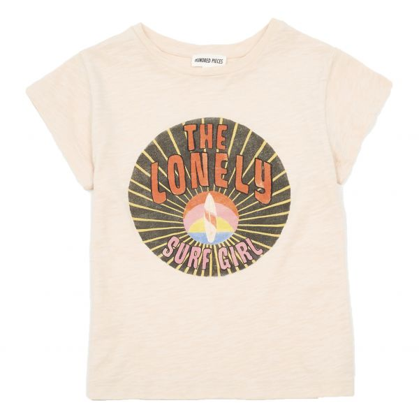 Lonely Surf Girl Organic Cotton T-shirt / Power Pink
