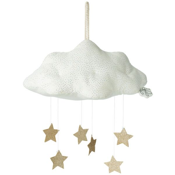 Cloud Corduroy / White With Stars